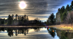 Reflection Before sunset (adam_moralee) Tags: before sunset landscape landscapes trees water lake river nature wow adammoralee adam moralee hdr multiple exposures canada national park sun clouds reflections nikon d7000 nikond7000 ripples