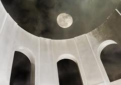 Look Up (Karen McQuilkin) Tags: lookup coittower supermoon tpwer sky landmark 1933 karenmcquilkin sanfranscisco
