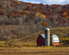 Red Barn in a Fall Valley (A Anderson Photography, over 1.5 million views) Tags: barn canon redbarn red valley fall color