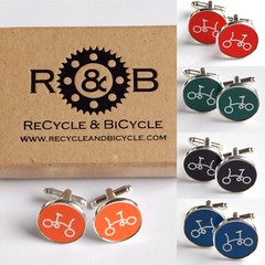 Brompton Cufflinks (ReCycle And BiCycle) Tags: brompton bromptongifts bromptongift cufflinks bromptonbike foldingbike