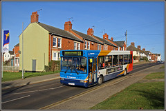 34591, Station Road, Long Buckby (Jason 87030) Tags: stationroad longbuckby houses bovis northants dnnis dart northamptonshire village december 2016 sunny light stagecoach 34591 kp04gzl daventry ashbyfields estate 11