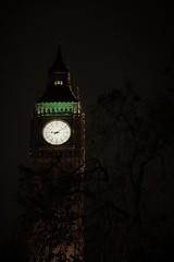 A disturbing Big ben (sarakahsay) Tags: photography london disturbing bigben clock tower tree light scary shot canon photo evening love image november sky high huge england