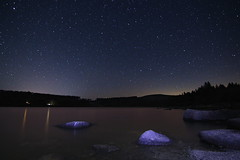 Stars over Burrator Reservoir (Richard D Porter) Tags: canon 550d water nightsky landscape stars dartmoor burrator reservoir longexposure devon uk tokina 1116mm f28