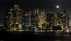 Punta Pacifica - Panama (Bernai Velarde-Light Seeker) Tags: puntapacifica panama city ciudad buildings edificios apartments apartamentos night urban urbano bernai velarde sea ocean mar oceano pacific pacifico bernaivelarde