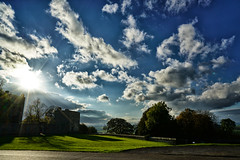 Low Autumn Sun Over Hardwick Old Hall (www.jamesgreigphotographer.com) Tags:
