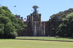 Government House, Sydney with Ficus macrophylla on the right (Poytr) Tags: governmenthousesydney governmenthouse sydney ficus ficusmacrophylla ficusmacrophyllavarmacrophylla moraceae sydneynsw royalbotanicgardenssydney rbgs rbgsarfp moretonbayfig outdoor