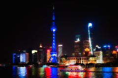 River Glow (Rob-Shanghai) Tags: shanghai china river cityscape huangpu pudong towers boat rivernight cruse pearltower jinmao jinmaotower shanghaitower cbd wfc
