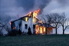 Burning House (Joseph Hollick) Tags: house fire burning houseburning hamilton 35mmfilm 35mm pentax smoke