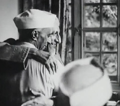 Nehru with Azad (Doc Kazi) Tags: pakistan india independence negotiations ceremonies jinnah gandhi nehru mountbatten viceroy wavell stafford cripps edwina fatima muhammad ali