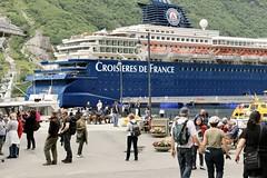 Geiranger, Norway (incommunicadoo) Tags: norwegen norway flickr geirangerfjord geiranger croisieresdefrance kreuzfahrtschiff cruiseships geirangerfjorden