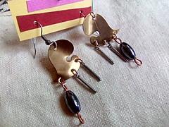 IMG_20161021_102507 (CherokeeDancing) Tags: jewelry handmade earrings mixed material copper brass assemblage gypsy soul boho chic tribal native industrial hippie minamalist cherokeedancing etsy azcraze glccraftmall sirius treasures charms stone artisan sales for sale dangle drop heart gunmetal surgical steel hypoallergenic hematite magnetic womens teens