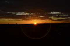 Sunset at Coober Pedy (chloesutton-stacey) Tags: australia travel blog downtherabbithole outback camping southaustralia lochiel rangesview landscape couple saltlake lakehart art sculpture installation sunset cooberpedy opalcapital views photography adventure backpacking oz travelling journey roadtrip