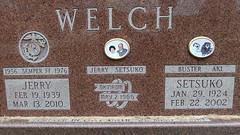Jerry, Setsuko, Buster & Aki (DewCon) Tags: tombstone semperfi