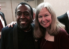 Summer Camps board member Rev. Jeffrey Jordan with Patti B. Grummun