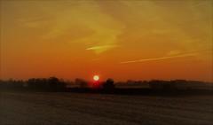 Sonnenaufgang (Wunderlich, Olga) Tags: sonnenaufgang landschaft mecklenburgvorpommern natur sonne stralsund feld nebel frost dunst