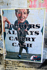 Joggers Always Carry Cash, San Francisco, CA (Robby Virus) Tags: sanfrancisco california sf ca paste pasted wheatpaste joggers always carry cash gay shame street art techies political