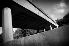 Untitled (Clive Richards) Tags: monochrome motorway bridge uk england leica