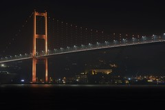Boaz Kprs [Bosphorus Bridge] (aralavci) Tags: turkey trkiye istanbul bosphorus bridge bosphorusbridge longexposure sea night nightphotography