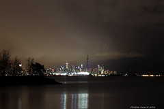 Grey Cup Weekend (FollowFiend) Tags: toronto cn tower skyline highrises downtown grey cup cfl mimico humber lake ontario night