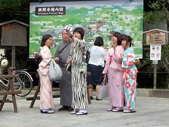 Japanese Tourists Taking Selfies (D-Stanley) Tags: japanese tourists selfies ginkakuji temple kyoto japan