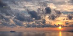 (393/16) ... Y Dios cre el mundo (Pablo Arias) Tags: pabloarias photoshop nxd cielo nubes texturas espaa inmensidad tranquilidad mar agua mediterrneo islaocaso puestadelsol benidorm alicante comunidadvalenciana