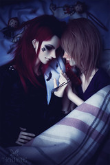 Desire (The Funerals.) Tags: bjd abjd ball jointed doll dolls emo emos boy guy yaoi couple gay uke anime cosplay morbid dark romantic kingdom hearts gaming lust dream red hair sora ren