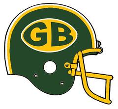 Green Bay Packers alternate (Flagman00) Tags: football helmet redesign fantasy nfl greenbay packers