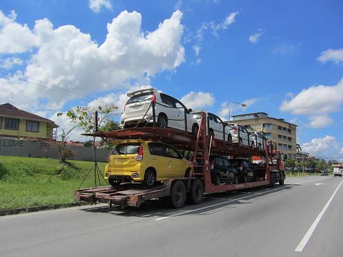 New Perodua Myvi On Car Carrier