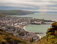 The Bay and Town of Aberystwyth (Photo Gal 2009) Tags: sea cliff beach wales town sand westwales aberystwyth ceredigion 2012 funicular constitutionhill cliffrailway dyfed aberystwythbeach easter2012 wales2012 aberystwythbay aberyswythtown aberystythview aberystwythview cliffrailwaywales welshcliffrailway railwayfunicularaberystwyth georgecroydonmarks
