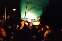 Lift off (ewitsoe) Tags: light people festival fun 50mm nikon europe midsummer crowd poland solstice lantern poznan sooc nockupaly stjohnnight