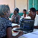 World Bank visit to Jean-Marie Vincent camp