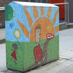Sunshine (sk8geek) Tags: sunshine children cabinet communications decorated