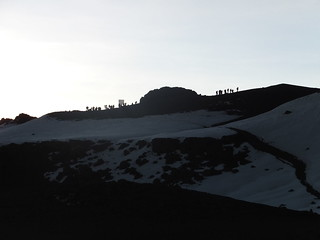View of Uhuru Peak from Crater Camp