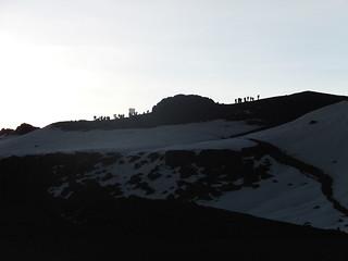 View of Uhuru Peak from Crater Camp