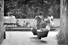 Plastic Man (N A Y E E M) Tags: street afternoon plastic vendor windshield bangladesh seller collector chittagong rabiarahmanlane
