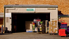 loading dock (Padmacara) Tags: brick australia fremantle lightshadow woolworths crates loadingdock woolies foodshopping g10