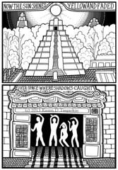 Dreaming of Dreaming Page 1 (Masonic Boom / Karen D. Tregaskin) Tags: comic pyramid mayan graphicnovel secretmachines dreamingofdreaming
