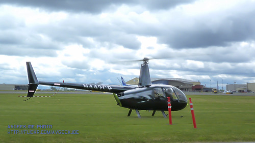 Black Chopper Ready to Show Paine Field & Mukilteo Off