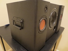 Handles and feet attached to Boombox (burritobrian) Tags: diy speaker boombox overnightsensations speakerbuild sd215a88