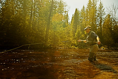 Spring on the AuSable River (Roche Photo) Tags: sunrise river spring fishing michigan flyfishing canoneos waders reel fishingrod grayling northernmichigan fastwater tomroche nikond800 rochephoto