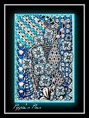 blue flowers (Poppie_60) Tags: pen drawings doodle tangle zentangle zendoodle ziazentangleinspiredart