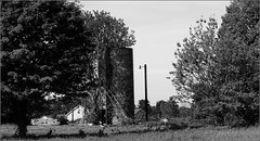 Only the Silo Remains (joeldinda) Tags: trees bw ruin silo farmyard joeldinda c50