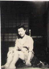 Possibly a Japanese prostitute? If so, poor woman.... (912greens) Tags: japan 1930s women prostitution prostitutes seriouswomen folksidontknow