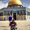Thugged out at the Temple Mount. Yo. Heh...