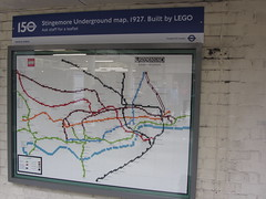 South Kensington Station (portemolitor) Tags: london royalboroughofkensingtonandchelsea rbkc southkensington underground station londontransportmuseum transportforlondon tube150 lu150 transport museum for tfl tube lu 150 metropolitan railway lego map uerl