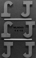 MLN069 (Chocolate Concepts) Tags: j chocolate letters number numbers letter mold