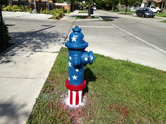 Patriotic Fire Plug (Phillip Pessar) Tags: west fire miami patriotic plug