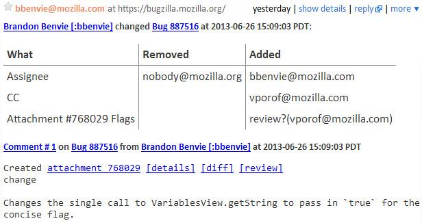 Bugzilla HTML Email