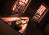 Oceania is falling (Kriegaffe 9) Tags: red sunlight abandoned book shadows angle decay 1984 georgeorwell bigbrother tilt ue urbex oceania newspeak
