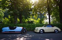 Classic duo (Corentin Gouchon Photographie) Tags: summer holiday 3 annecy ex canon photography eos dc photographie gulf sigma august porsche wheeler morgan 1020 speedster 356 livery corentin f456 hsm 2013 550d worldcars gouchon